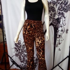 NWT- Leopard Print Pant W/Figure Shaping Bodysuit